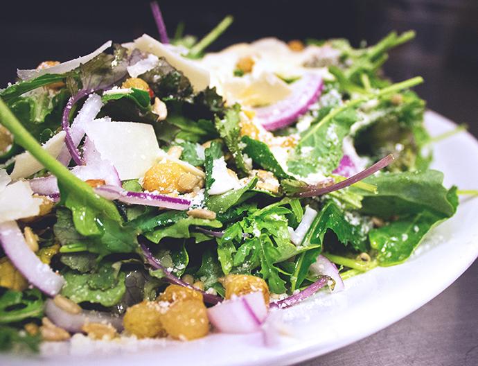Baby Kale Arugula Salad